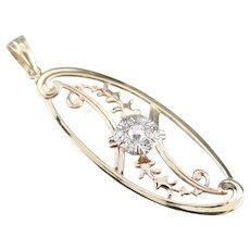 Upcycled Mixed Metal Diamond Pendant
