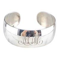 "S. Kirk & Son ""MM"" Monogram Cuff Bracelet"