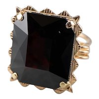 Oversized Garnet Cocktail Ring