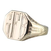 "Art Deco ""GFB"" Signet Ring"