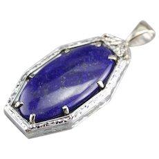 Upcycled Lapis Lazuli Pendant