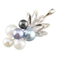 Lovely Cultured Pearl Cluster Pendant
