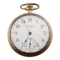 Circa 1915 Antique Waltham Crescent St. Pocket Watch