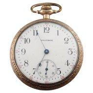 Circa 1915 Antique Waltham Crescent St. Pocket Watch