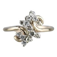 Vintage Diamond Cluster Bypass Ring