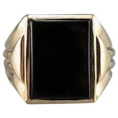 Retro Era Black Onyx Men's Ring