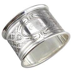 """Vintage """"GH"""" Monogramed Napkin Ring"""