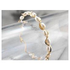 Freshwater Pearl Ribbon Bracelet