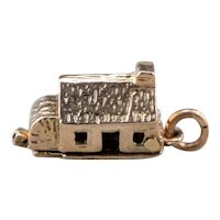 Moving Parts Vintage 9 Karat Rose Gold House Charm