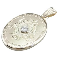 Ornate Upcycled Diamond Locket