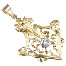Mixed Era Ornate Diamond Pendant