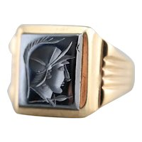 Men's Vintage Hematite Intaglio Ring