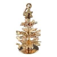 Vintage Christmas Tree Charm Pendant