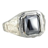 Men's Retro Era Hematite Ring