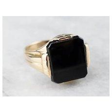 Retro Era Men's Onyx Ring