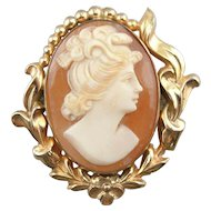 Lovely Cameo Pendant or Brooch