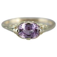 Art Nouveau Sapphire Solitaire Ring