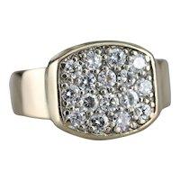 Stunning Vintage Diamond Cluster Ring