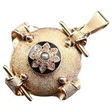 Upcycled Gothic Medallion Pendant