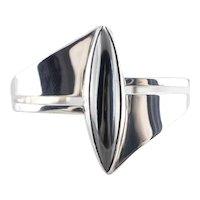 Modernist Hematite Cuff Bracelet