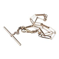 Vintage Elongated Link Watch Chain