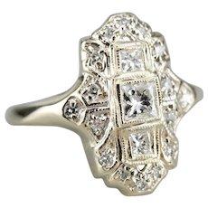 Upcycled Diamond Filigree Dinner Ring