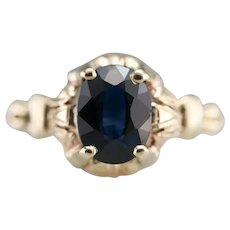 Upcycled Retro Era Sapphire Ring