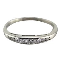 Single Cut Diamond Wedding Band