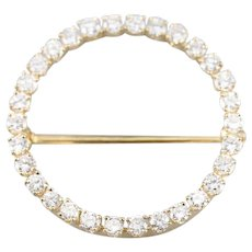 Vintage Diamond Circle Pin