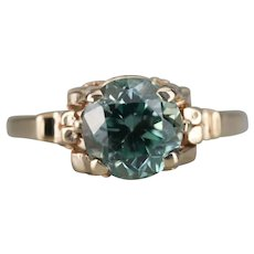 Pretty Upcycled Blue Zircon Solitaire Ring