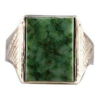 Men's Victorian Era Jade Cabochon Ring