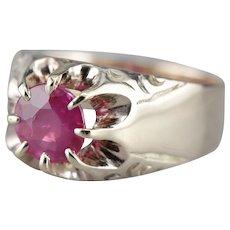 Men's Belcher Set Ruby Ring