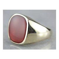 Men's Vintage Carnelian Ring