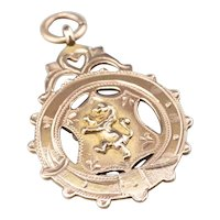 Antique Rose 9 Karat Gold Scottish Medallion