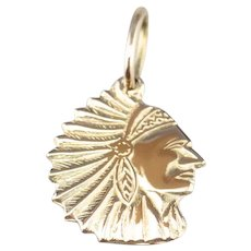 Native American Chief Charm