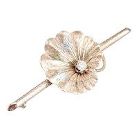 Vintage Diamond Lily Pad Brooch