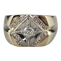 Men's Vintage Diamond Starburst Ring