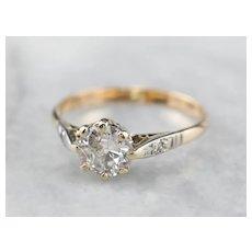 Lovely Retro Era Old Mine Cut Diamond Ring