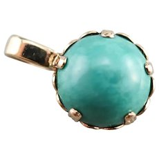 Turquoise Button Ball Pendant