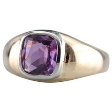 Unisex Upcycled Pink Sapphire Solitaire Ring