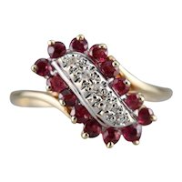 Ruby and Diamond Dinner Ring
