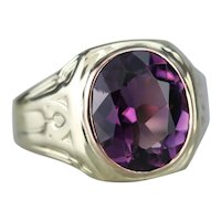 Men's Upcycled Amethyst Statement Ring