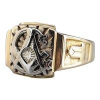 Vintage Mixed Metal Masonic Ring