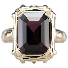 Upcycled 1940s Spinel Cocktail Ring