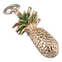 Enamel 14K Pineapple Charm