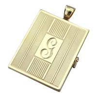 Vintage G Monogram Rectangle Locket
