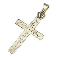 Etched Vintage Cross