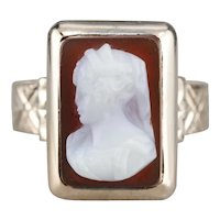 Victorian Sardonyx Cameo Ring