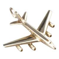 Vintage 14 Karat Gold Plane Pendant