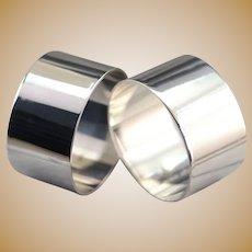 Sleek Minimalist Napkin Ring Set